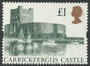 SG1611 1992 £1 Harrison Castles  (Decimal Castle High Value Stamps)